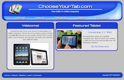 Choose Your Tab Front Page