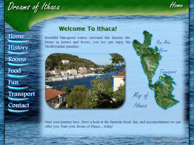 Dreams of Ithaca Front Page